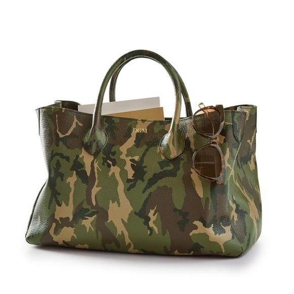 Mark & Graham Handbags - ISO-Elisabetta Slouch Leather Camouflage Handbag